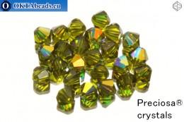 Прециоза Хрустальные Биконусы - Olivine AB 3мм, 24шт 3PRcrys22