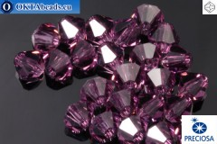Preciosa Crystal Bicone - Amethyst 3mm, 24pc