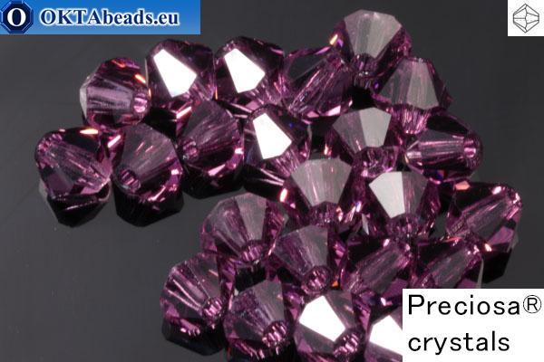 Preciosa Crystal Bicone - Amethyst 4mm, 24pc
