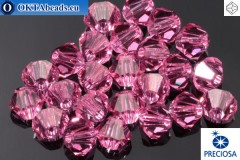 Preciosa Crystal Bicone - Rose 3mm, 24pc