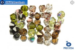 Preciosa Crystal Bicone - Artistic Impression 4mm, 24pc 4PRcrys82