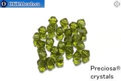 Preciosa Křišťálové Korálky - Olivine 3mm, 24ks