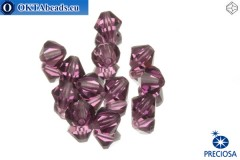 Preciosa Crystal Bicone - Amethyst 6mm, 12pc