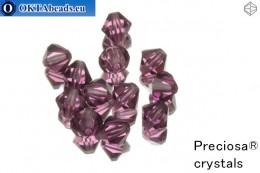 Прециоза Хрустальные Биконусы - Amethyst 6мм, 12шт 6PRcrys1