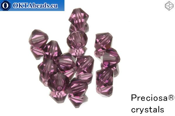 Preciosa Crystal Bicone - Amethyst 6mm, 12pc