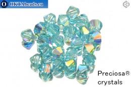 Preciosa Křišťálové Korálky - Aqua Bohemica AB 4mm, 24ks 4PRcrys24