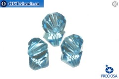 Preciosa Crystal Bicone - Aquamarine 10mm, 3pc