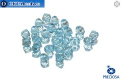 Preciosa Crystal Bicone - Aquamarine 4mm, 24pc
