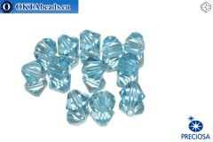 Preciosa Crystal Bicone - Aquamarine 6mm, 12pc