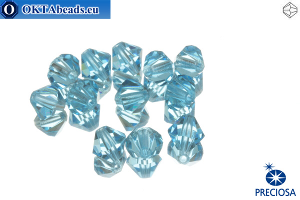 Preciosa Crystal Bicone - Aquamarine 6mm, 12pc