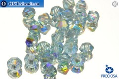 Preciosa Crystal Bicone - Aquamarine AB 3mm, 24pc 3PRcrys4