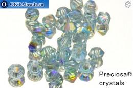 Прециоза Хрустальные Биконусы - Aquamarine AB 3мм, 24шт 3PRcrys4