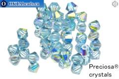 Прециоза Хрустальные Биконусы - Aquamarine AB 4мм, 24шт