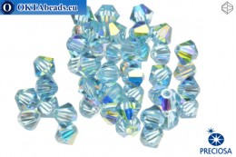 Preciosa Crystal Bicone - Aquamarine AB 4mm, 24pc 4PRcrys59