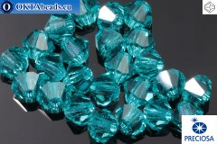 Preciosa Crystal Bicone Blue Zircon 4mm, 24pc