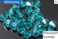 Прециоза Хрустальные Биконусы Blue Zircon 4мм, 24шт 4PRcrys100