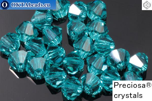 Прециоза Хрустальные Биконусы Blue Zircon 4мм, 24шт