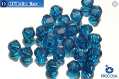 Preciosa Crystal Bicone - Capri Blue 3mm, 24pc 3PRcrys9