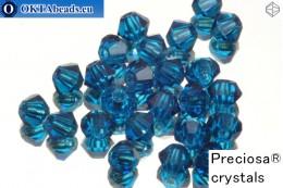 Прециоза Хрустальные Биконусы - Capri Blue 3мм, 24шт 3PRcrys9