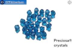 Preciosa Křišťálové Korálky - Capri Blue 4mm, 24ks