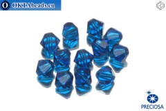 Preciosa Crystal Bicone - Capri Blue 6mm, 12pc