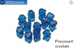 Preciosa Crystal Bicone - Capri Blue 6mm, 12pc 6PRcrys14