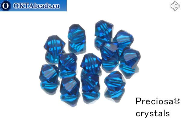 Прециоза Хрустальные Биконусы - Capri Blue 6мм, 12шт