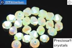 Preciosa Crystal Bicone Chrysolite Opal AB 2X 4mm, 24pc 4PRcrys107
