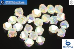 Preciosa Crystal Bicone Crystal AB 2X 4mm, 24pc