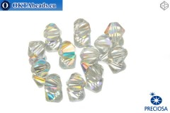 Preciosa Crystal Bicone - Crystal AB 6mm, 12pc