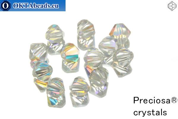 Preciosa Crystal Bicone - Crystal AB 6mm, 12pc