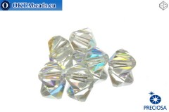 Preciosa Crystal Bicone - Crystal AB 8mm, 6pc