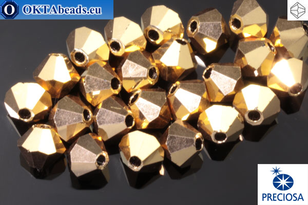 Прециоза Хрустальные Биконусы - Crystal Aurum 4мм, 24шт