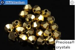 Прециоза Хрустальные Биконусы - Crystal Aurum Full 3мм, 24шт 3PRcrys51