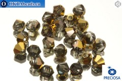 Preciosa Crystal Bicone - Crystal Aurum Half 3mm, 24pc 3PRcrys6