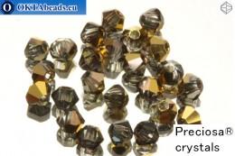 Прециоза Хрустальные Биконусы - Crystal Aurum Half 3мм, 24шт 3PRcrys6