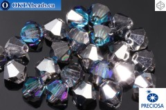 Preciosa Crystal Bicone Crystal Bermuda Blue 4mm, 24pc