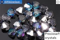 Прециоза Хрустальные Биконусы Crystal Bermuda Blue 4мм, 24шт