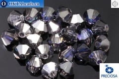 Preciosa Crystal Bicone Crystal Heliotrope 4mm, 24pc