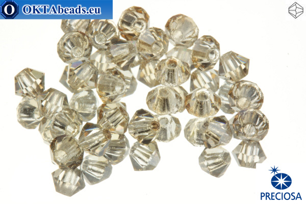 Preciosa Crystal Bicone - Crystal honey 3mm, 24pc