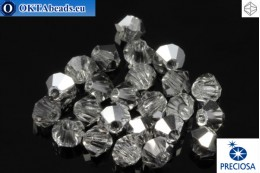 Preciosa Crystal Bicone - Crystal Labrador Half 3mm, 24pc