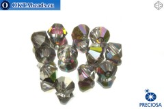 Preciosa Crystal Bicone - Crystal Vitrail Medium 6mm, 12pc