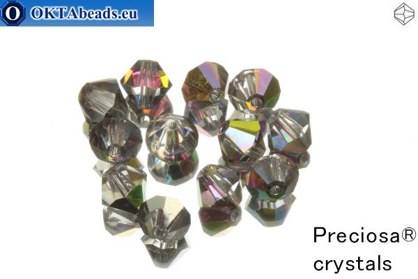 Preciosa Crystal Bicone - Crystal Vitrail Medium 6mm, 12pc