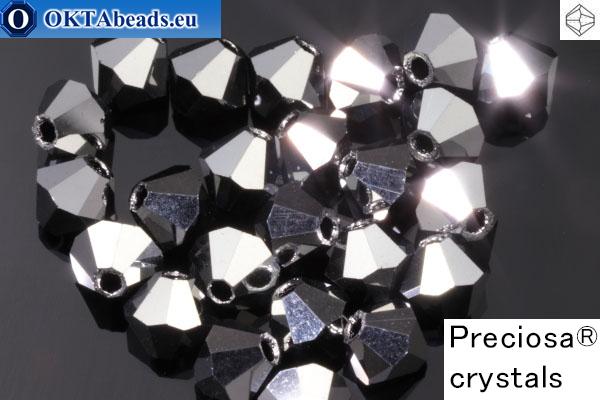 Прециоза Хрустальные Биконусы - Hematite 4мм, 24шт