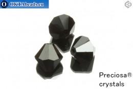 Preciosa Crystal Bicone - Jet Hematite Half 10mm, 3pc 10PRcrys7