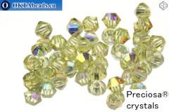 Preciosa Crystal Bicone - Jonquil AB 3mm, 24pc