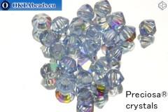 Preciosa Křišťálové Korálky - Light Sapphire 3mm, 24ks
