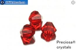 Preciosa Crystal Bicone - Light Siam 10mm, 3pc 10PRcrys2