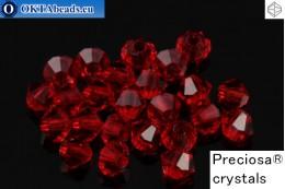 Preciosa Crystal Bicone - Light Siam 3mm, 24pc