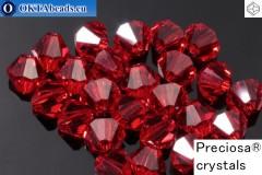 Preciosa Crystal Bicone - Light Siam 4mm, 24pc
